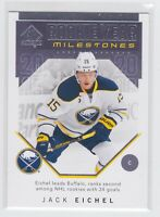 18/19 SP AUTHENTIC...JACK EICHEL...ROOKIE YEAR MILESTONES...# RYM-JE...SABRES