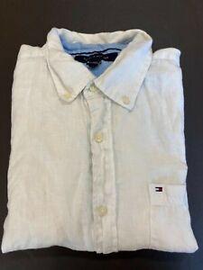 Tommy Hilfiger 100% Linen Shirt Men's Medium White