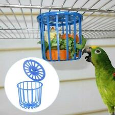 Pet Bird Parrot Feeder Cage Fruit Vegetable Holder Basket Cage New Hanging J3W8
