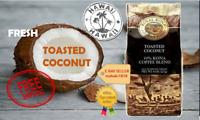 Royal Kona Coffee TOASTED COCONUT Flavor  8oz Ground Grind APG 10% Kona Blend