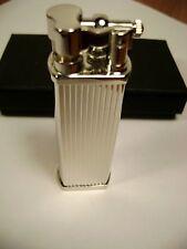 Tsubota Pearl BOLBO Silver Stripeline model Pipe Lighter Seki City Japan Old Boy