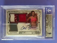 CAT ZINGANO 2015 UFC Knockout Triple Auto Relic Ruby Beckett Graded 9/9 Pop 1