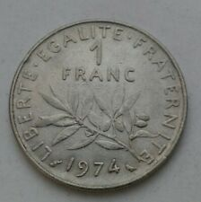 France 1 Franc 1974. KM#925.1. One Dollar Nickel coin. Frank. Seed Sower.