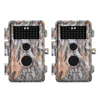 2 Pack Night Vision 16MP 1080P Trail & Game Hunting Wildlife Cameras Waterproof