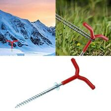 Outdoor Camping Tent Stakes Ice Fishing Screw Rod Stand Y Shape Rack Pole Pegs