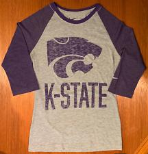 NIKE Womens' K-State T-Shirt SMALL Kansas State Wildcats 3/4 Sleeve NCAA NICE!!