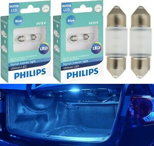 Philips Ultinon LED Light DE3021 Blue 10000K Two Bulbs Trunk Cargo Replace Lamp
