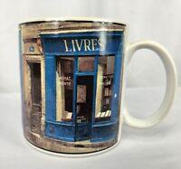 Sakura Storefronts Blue LIVRES Coffee/Tea Mug/Cup by Chiu Tak Hak Art in Motion