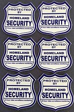 6 - HOMELAND SECURITY....... WINDOW DECALS