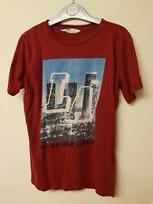 Boys burgundy t-shirt by h&m age 10-12yrs