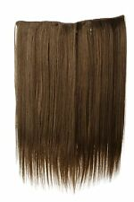 Haarteil breit Haarverlängerung 5 Clips glatt Braun Hellbraun 45cm L30173-14