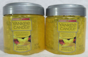 Yankee Candle Fragrance Spheres Odor Beads Set Lot of 2 TROPICAL STARFRUIT