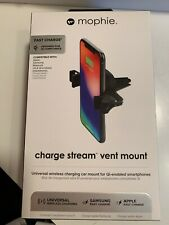 New Mophie Charge Stream QI Wireless Car Vent - Mount / Charger Apple & Samsung