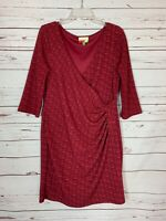 Fervour ModCloth Women's XL Extra Large Burgundy Long Sleeve Cute Party Dress
