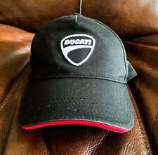 Ducati Cap Print, Adjustable Hat, New Black, White