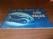 1935 Plymouth  DeLuxe 24-Page  Sales Catalog