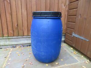 1 x Plastic Barrel, Water Butt, Storage Barrel with Lid, Feed Bins 60Ltr