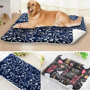 Pet Dog Cat Bed Mattress Cushion Pillow Mat Winter Warm Blanket Sleeping Pad