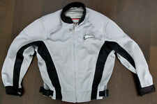 FIRST GEAR MOTORCYCLE Jacket Men's LG Extra Mesh Tex Padded Sleeves Silver Black