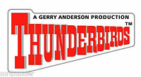 Gerry Anderson's Thunderbirds logo square enamel pin badge BRAND NEW  !