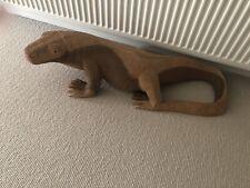 More details for huge wooden carved lizard