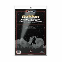 NEW 500 BCW GOLDEN AGE Comic Book regular Poly Bags and Acid Free Backer Boards