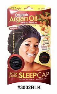 Magic Collection Wide Band Sleep Cap (XL) Organic Argan Oil Treated Cap 3002BLA