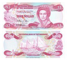 Bahamas 3 Dollars L1974 (1984) P-44 Banknotes UNC