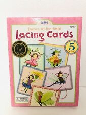 EEBOO 2006 FAIRIES OF THE FIELD LACING CARDS PRESCHOOL LEARNING SEWING TOY