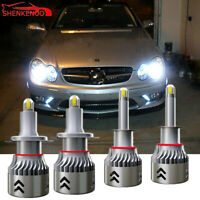 H1 + H7 LED Headlight Bulb Hi/Lo for Mercedes-Benz B200 C230 C240 C250 C280 C300
