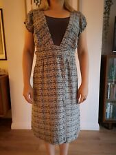 Margit Brandt (Copenhagen) silk Art Deco print dress 'medium' (fits size 8-10)