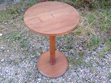 Ancien petit guéridon en bois de salon années 1950 design 20ème french antique