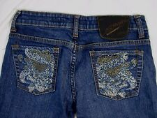 Ed Hardy Christian Audigier Womens 28 Embellished Jean Pants GG309