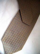 Hugo Boss - Noble Cravate en Soie Cravate en Soie - Doré Beige Bleu à Motif