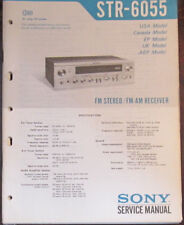 Sony ST-6055 tuner service repair workshop manual (original copy)