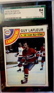 1978-79    Guy Lafleur #90     SGC 7 Montreal Canadiens