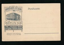 Germany BERLIN Grand Hotel de Rome advert c1902 u/b PPC