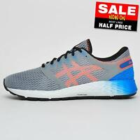Asics Roadhawk FF2 Premium Mens Running Shoes Fitness Gym Trainers Grey