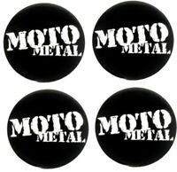 "Set 4 Moto Metal 2.4"" Black Center Cap Large Logo MO957 MO958 MO959 MO960 MO961"