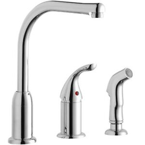 Elkay LK3001CR Kitchen Faucet w/ Remote Handle & Side Spray, New, Free ship!