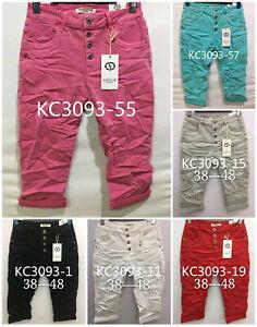 Karostar: Boyfriend Baggy Capri Bermuda Basic Jeans Hose 6 Farben Gr. 38 - 48