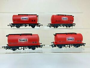HORNBY R231 TEXACO TANKERS X 4 GOOD/EXCELLENT CONDITION  SEE DESCRIPTION
