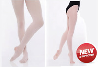 Girls High Performance Dance Tights - Childs Footed Convertible Ballet Tights