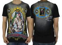 MINUTE MIRTH Ink Girl Tattoo Skull Heavy Metal Rock Biker #M14 Men Black T-Shirt