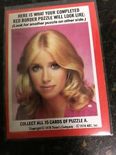 TOPPS 1978 THREE'S COMPANY SUZANNE SOMERS RED AND BLUE BORDER PUZZLE CARD