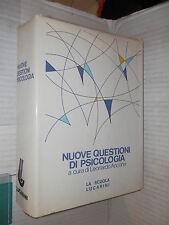 NUOVE QUESTIONI DI PSICOLOGIA Vol 2 Leonardo Ancona La Scuola Lucarini 1990 di
