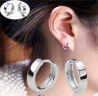 Kleine Klapp Creolen echt Sterling Silber 925 Damen Ohrringe Kreolen