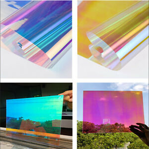 Rainbow window film Dichroic Film adhesive colourful PET 3 colors Roll HOHOFILM