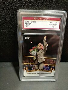 ASUKA SEXY DIVA ! 2018 Topps #NXT- 29 GRADED 10 EMC  MINT GREAT CARD