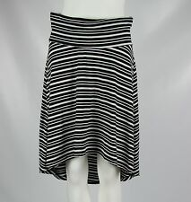 A Pea in the Pod Maternity Womens Black White Striped Hi-Low Skirt Size Small